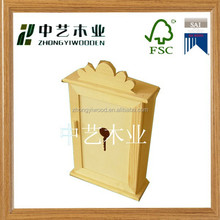 2015 popular handcrafted factory supplied high quality wood key box