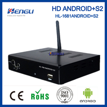 Hot sell android dvbs2 hd satellite receiver android box android internet tv decoder