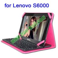 PU Leather Flip Cover for Lenovo S6000 with Safty Belt and Stand