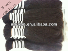 hair material factory chinese non remy double drawn human hair/human hair products/natural hair