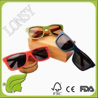 Handmade Custom Fashion Design Skateboard Wood Sunglasses Canada Maple Wood Sunglasses Colorful Wooden Frame Sunglasses