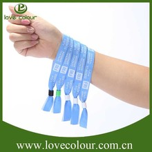 Trade Assurance design logo printed fabric event wristbands from factory
