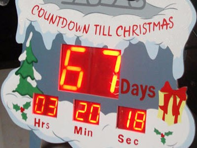 Led Digital Custom Countdown Christmas Countdown Clock Outdoor View Christma