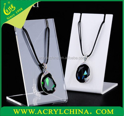 2015 High quality acrylic used jewelry display cases,acrylic necklace display