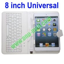 Universal Wired 8 inch Tablet PC Case with Keyboard