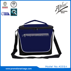 600D fabric insulated cooler lunch bag with 4mm EPE foam