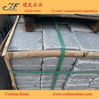 Driveway tumbled stone brick china G654 grey granite paving stone
