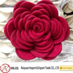 2015 best selling !!! Alibaba express handmade decorative felt flowers made in China