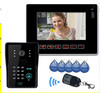 "9"" LCD video intercom system access control video door phone with RFID Keyfobs IR Camera Code Keypad Wireless Remote control"
