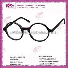 Round Frames Glasses Acetate/ Black Round Reading Glasses 2013