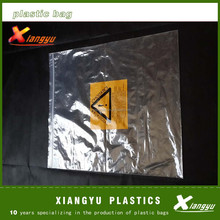 printed warning marks LDPE plastic ziplock bag