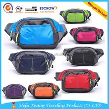 2015 Wholesale Men Women Sport Pocket Solid Durable Nylon Fanny Bag