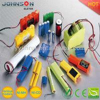Nimh Rechargeable battery nimh battery pack 1.2v-24v 300mAh-20Ah rc car nimh battery 7.2v