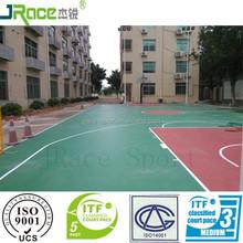 elastic buffer outdoor basketball court rubber floor