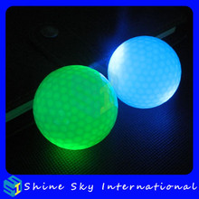 High Rebounce Super Bright Led Golf Ball For Night Time Golf Training