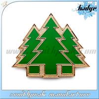 2014 Hot sale custom metal green tree badge