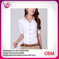 Gold supplier china blouse women shirt model