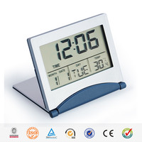 HaiRong card style portable digital ce travel alarm clock