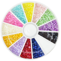 Beauties Factory 1200 pcs Pearl 12 Color Rhinestones - 2 sizes Available