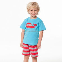 New O neckline 100%Cotton t shirts for boys with The cartoon design