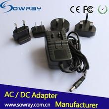 100 240V 50 60HZ Interchangeable Plug Power Adapter 5V 2A Wall Adapter Power Supply With Plug UK AU US EU