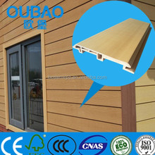 eco-friendly 113 * 16mm wood plastic composite pvc clapboard