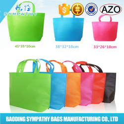 Wholesale non woven colorful tote shopping bag/promotion non woven bag