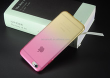China supplier TPU soft color change back cover for iphone 6