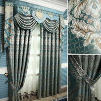European style jacquard curtain for living room