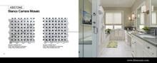 "Bianco Carrara 1""X2"" Dogbone Basketweave Dan Gray Dot Marble mosaic natural stone tile"