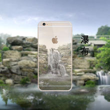 Best selling products Landscape scenery Painted Clear Tpu Case for iphone 6 tpu clear wholesale