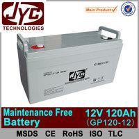 Hot factory price energy storage maintenance free battery 12v 120ah