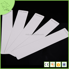Rectangle Shape Cardboard Long Necklace Display Cards, White Necklace Cards