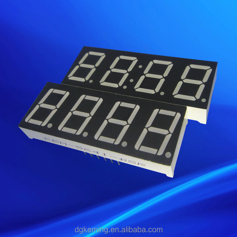 Ultra red indoor 5641 inch 7 segments 4 digit led numeric display