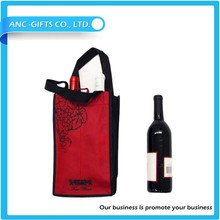 6 bottle non-woven wine tote bag carrier bag
