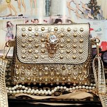 Wholesale products small shoulder bag studded bag fashion skull bag SY6235