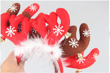 SD006 Nuoqi tree decorations fabric section Astoria bell snowman deer antlers head buckle Christmas ornaments
