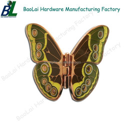 Colorful butterfly shaped vintage metal buckles for bags