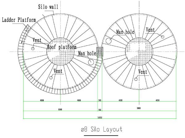 Steel Silo Drawings Lipp Steel Cement Silo With
