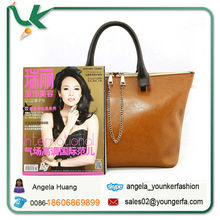 Vintage Leather Tote Bag simple designed large capacity leather bags for women