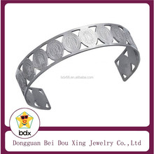 Wholesale Fashion Christ Jewelry Stainless Steel Mary And Jesus Religious Christian Cuff End Bangle Design For Muslim People