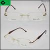new products 2016 promotion rimless titanium eyeglass frames