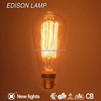 Christmas decorations vintage edison bulb E27 vintage edison light bulb 100W