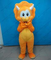 Soft plush Triceratops dinosaur mascot costume for all adult unisex Triceratops dinosaur mascot costume