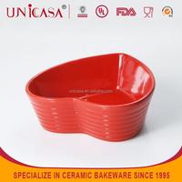 UNICASA ceramic heart shape candy dish