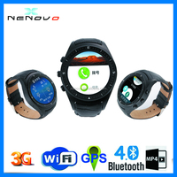 New Oled Round Display Android 4.4 luxury watch gsm/Wcdma network smart watch with GPS WIFI 3G