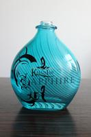 700ML COBALT BLUE FANCY GLASS TEQUILA BOTTLE