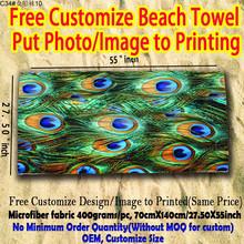 Peacock feathers printed beach towel bulk hot selling beach towel