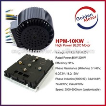 48V/72V 10kw EV motor for electric car