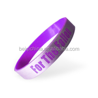 promotional silicon bracelet with letter